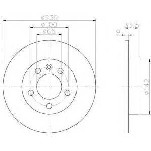 TEXTAR 92105803 Тормозной диск