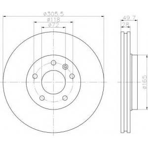 TEXTAR 92116003 Тормозной диск TEXTAR PRO