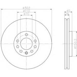 Тормозной диск 92118303 textar - CADILLAC BLS седан 2.0 T AWD