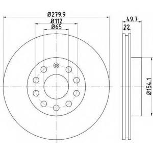 TEXTAR 92120705 Тормозной диск TEXTAR PRO