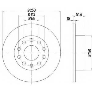 TEXTAR 92120903 Тормозной диск