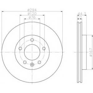 TEXTAR 92121403 Тормозной диск TEXTAR PRO