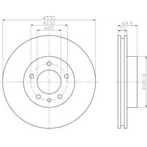 TEXTAR 92121505 Тормозной диск