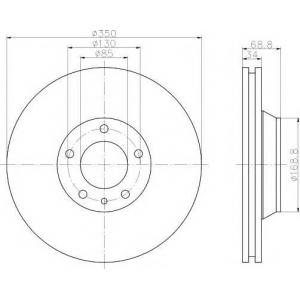 TEXTAR 92121705 Тормозной диск