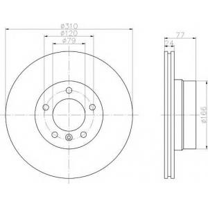 TEXTAR 92122503 Тормозной диск TEXTAR PRO