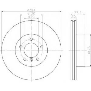 TEXTAR 92122605 Тормозной диск