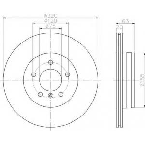 TEXTAR 92122703 Тормозной диск TEXTAR PRO