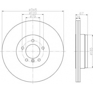 TEXTAR 92123203 Тормозной диск TEXTAR PRO