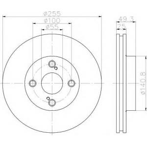 TEXTAR 92125903 Тормозной диск TEXTAR PRO