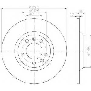 TEXTAR 92129603 Тормозной диск TEXTAR PRO