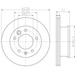 TEXTAR 92131503 Тормозной диск TEXTAR PRO