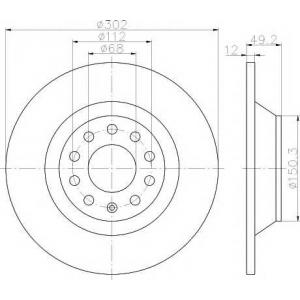 TEXTAR 92132503 Тормозной диск TEXTAR PRO