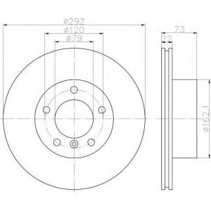 TEXTAR 92132805 Тормозной диск TEXTAR