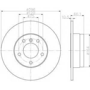 TEXTAR 92133100 Тормозной диск задний BMW 1/3