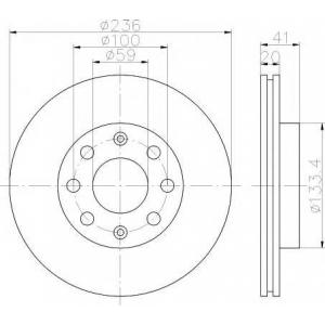 Тормозной диск 92133400 textar - CHEVROLET AVEO седан (T250, T255) седан 1.2