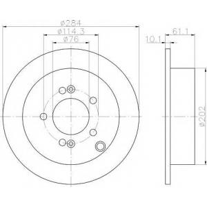 TEXTAR 92134000 Тормозной диск TEXTAR