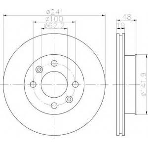 TEXTAR 92134100 Гальмівний диск