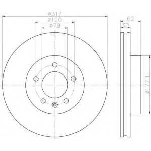 TEXTAR 92134500 Диск тормозной LANDROVER DISCAVERY III 2.7Td 04-