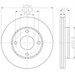 Тормозной диск 92134803 textar - MITSUBISHI COLT VII (Z2_, CZ_) Наклонная задняя часть 1.5 (Z30)