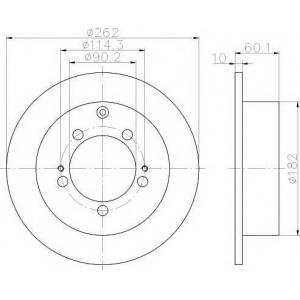 TEXTAR 92136100 Гальмівний диск