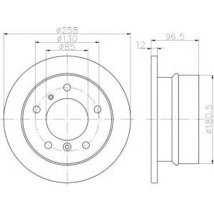 TEXTAR 92137503 Тормозной диск TEXTAR PRO