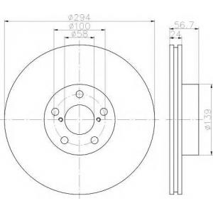 TEXTAR 92139500 Тормозной диск TEXTAR