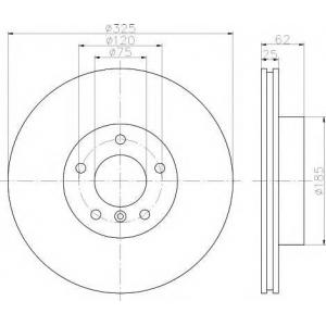 TEXTAR 92141503 Тормозной диск TEXTAR PRO