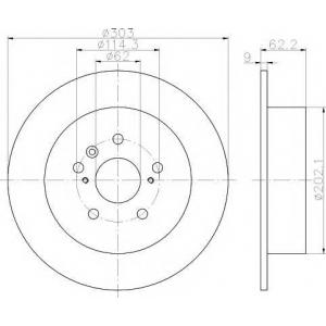 TEXTAR 92144100 L/R TOYOTA RAV 4 II 1.8/2.0/2.0D 06.00-11.05