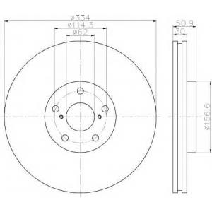 TEXTAR 92147900 Диск тормозной вентилируемый