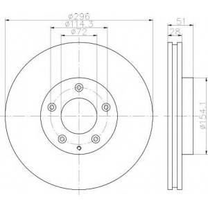 TEXTAR 92148100 Тормозной диск