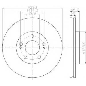 TEXTAR 92148303 92148300 Тормозной диск TEXTAR PRO