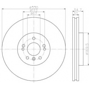 TEXTAR 92150603 Диск тормозной