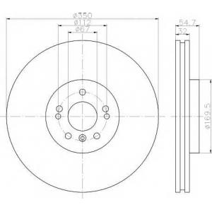 TEXTAR 92150703 Тормозной диск