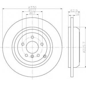 TEXTAR 92150803 Тормозной диск TEXTAR