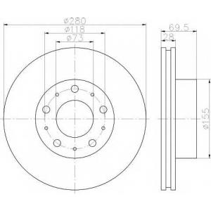 TEXTAR 92157200 Тормозной диск TEXTAR