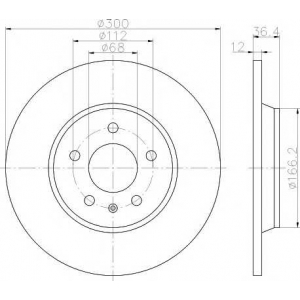 TEXTAR 92160103 Тормозной диск