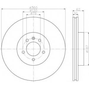 TEXTAR 92162003 Тормозной диск TEXTAR