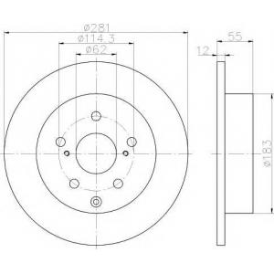 TEXTAR 92162100 L/R TOYOTA RAV 4 III, RAV 4 IV 2.0-2.5H 03.06-
