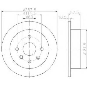 TEXTAR 92163000 Тормозной диск TEXTAR LACETTI