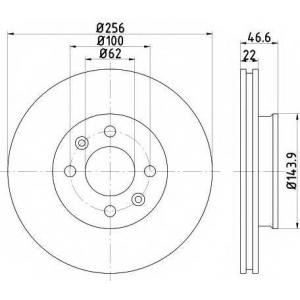 Тормозной диск 92164700 textar - HYUNDAI i20 (PB, PBT) Наклонная задняя часть 1.4 CRDi