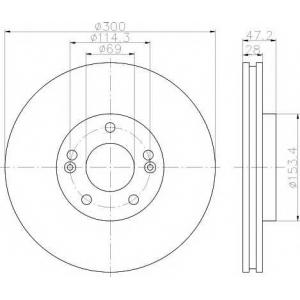 TEXTAR 92166500 Тормозной диск TEXTAR