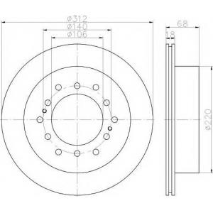 TEXTAR 92170103 Тормозной диск TEXTAR PRO
