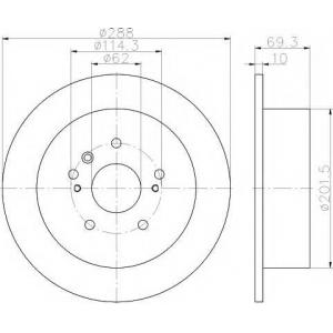 Тормозной диск 92171603 textar - TOYOTA HARRIER (GSU3_, MHU3_, ACU3_) вэн 2.4 VVTi