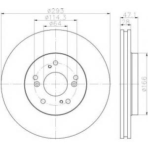 TEXTAR 92184803 Тормозной диск TEXTAR PRO