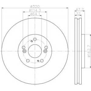 Тормозной диск 92194900 textar - HONDA ACCORD IX (CU) седан 2.4 i