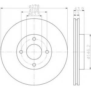 TEXTAR 92252403 Тормозной диск Форд Б-Макс