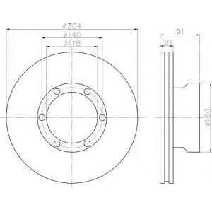 TEXTAR 93087400 Тормозной диск