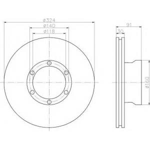 TEXTAR 93087600 Тормозной диск