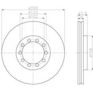 TEXTAR 93117500 Тормозной диск
