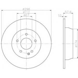 TEXTAR 93123503 Тормозной диск